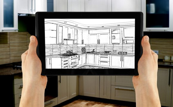 Interior design software on a