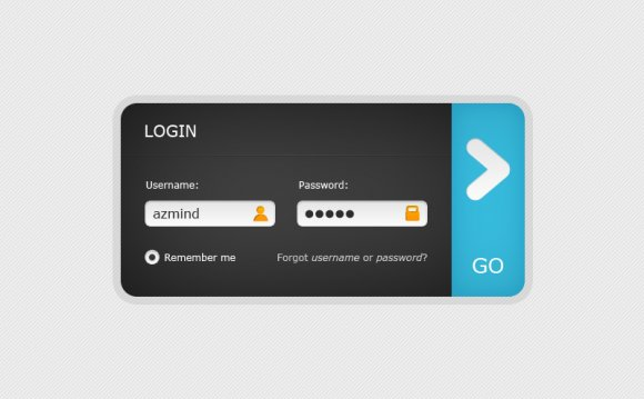 Web 2.0 Login Form