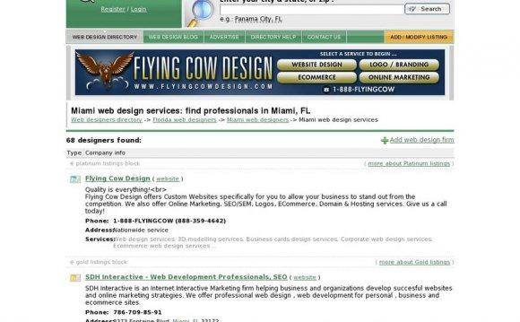 Miami web design services: