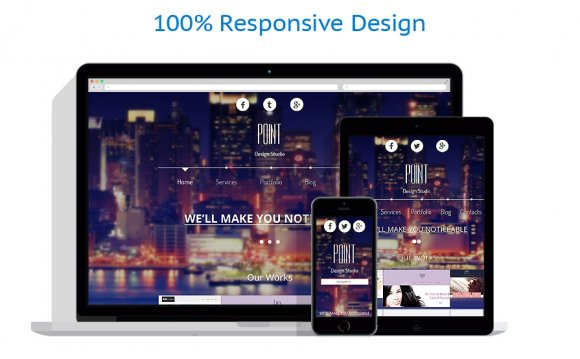 This clean responsive theme is