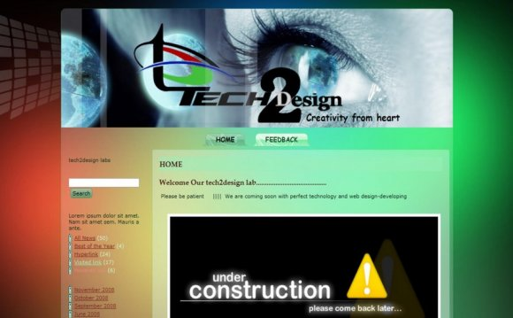 HTML, CSS Web page design