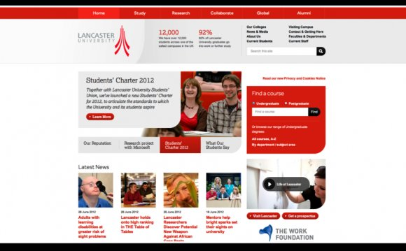 Best university website design