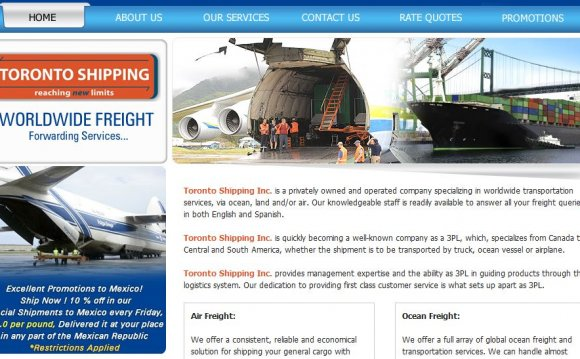 Toronto Shipping Inc. Web