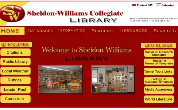 Library Web Page design