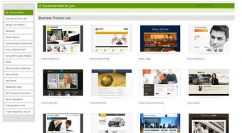 GoDaddy website builder review - templates
