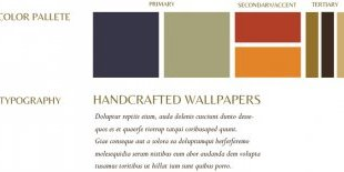 Lyons Handcrafted Wallpaper brand board by K.Haggard Design