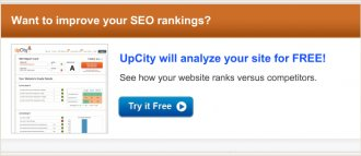 UpCity SEO Report Card Banner