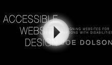 Accessible Website Design: Designing websites for persons