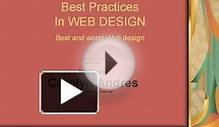 Best Practices In WEB DESIGN Best and worst Web design