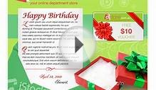 Birthday Card Template | Web page design contest