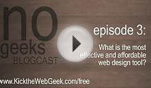 [nogeeks] Blogcast :: What is the best Web Design Tool?