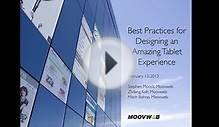 Web Seminar: Best Practices for Designing an Amazing