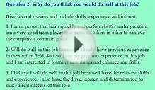 Webmaster interview questions and answers