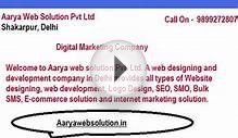 Website Design Services in Delhi - http://aaryawebsolution.in/